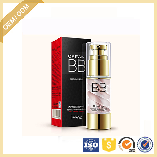 OEM/ODM BIOAQUA Dual color BB cream for skin care Concealer Smooth Moisturizing Whitening Compact Foundation makeup