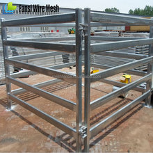 hot-dipped galvanized steel tube/pipe livestock rail fence panel for horse/cattle/pany/deer/animals china manufacturer