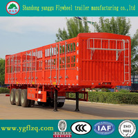 3 AXLES STAKE TRUCK SEMI TRAILER Strength Steel Stake Fence Semi Trailer Truck