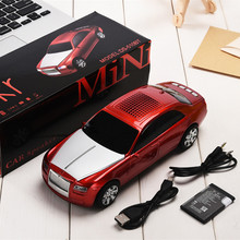 DS-510BT Mini Car Model BT Speaker Portable Wireless With Mic Outdoor Sound Box Support Radio