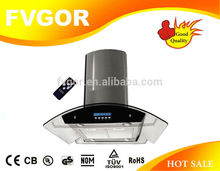 best kitchen hoods wall mounted kitchen island range hood with display and remote controller CXW-OR904N