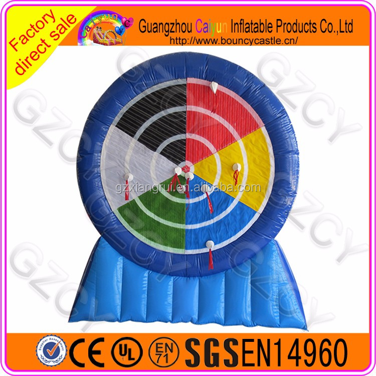 Commercial High Quality inflatable foot darts/velcro soccer darts board for sale