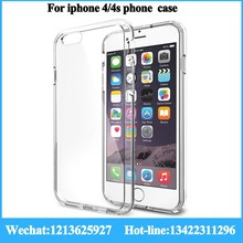 ultra-thin hightly fit color change back cover for iphone 4/4s Ultra Transparent Soft Case for iphone