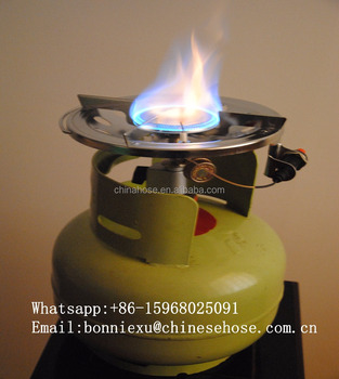 JG Africa Portable Camping LPG Gas Burner Stove, Cast Iron Cooking Gas Stove,Picnic Gas Stove