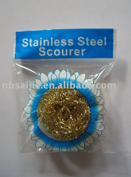 copper scourer Brass Scourer,copper scouer, scrubber, cleaning ball, galvanized mesh scourer