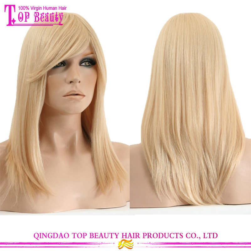 Best selling products in europe blonde wig indian natural remy human hair 613# full lace wigs