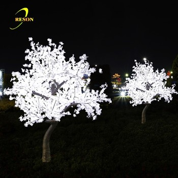 Christmas tree ornament outdoor white led lighted maple tree