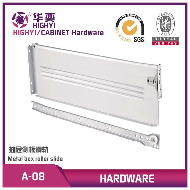 150MM side mounted metal drawer slide rail for furniture