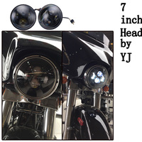 New Arrival 12v 24v 60W 7inch high low beam tractor round led headlight for offroad jeep/harley