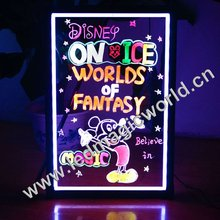 Led Writing Boards Flashing Message Sign Transparent Fluorescence Plate Clear Display