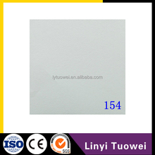 Ali china Vinyl coated pvc laminated gypsum ceiling tiles for price