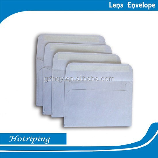 White plain design and cheap price optical glass paper envelope(XM)