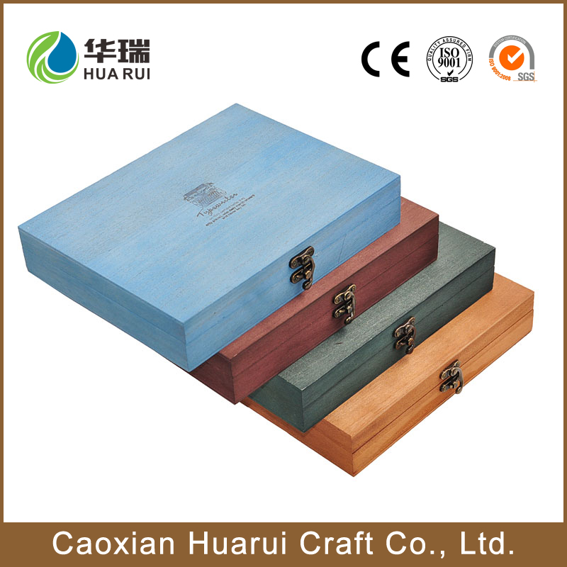 High quality decorative promotion wooden photo album box