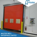 Zipper fast moving stacking shutter door