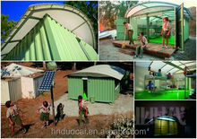Multi purpose collapsible container house capable of using multiple times