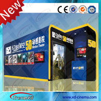 Fashionable Hydraulic / Electric System 7D Simulator 7D Interactive Cinema 7D Cinema Equipment