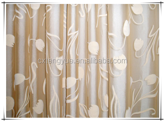 100% polyester cheap continuous curtain jacquard fabric in changxing tengyue