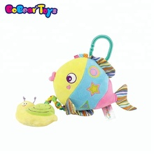 BobearToys pull string music boxes hot selling plush toys stuffed big eyes fish programmable pull string voice box for toys