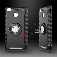 Cheap TPU + PC Mobile Phone Back Case With Ring