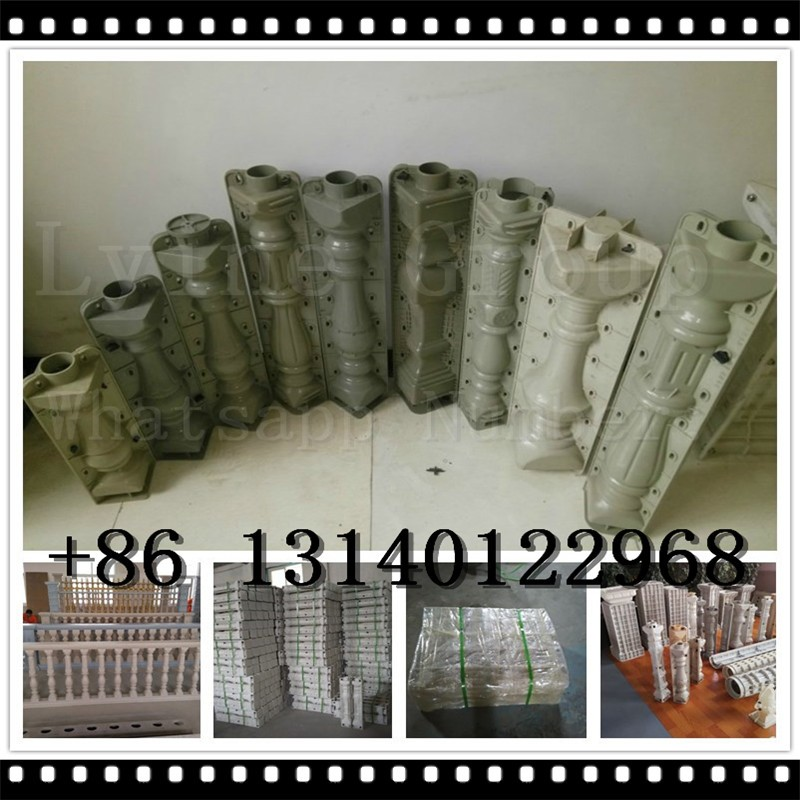 polished surface chinese concrete decorative roman column mould