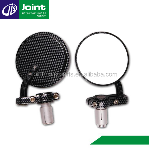 Wholesale Black Aluminum Universal Motorcycle Micro Handle Bar End Round Mirror