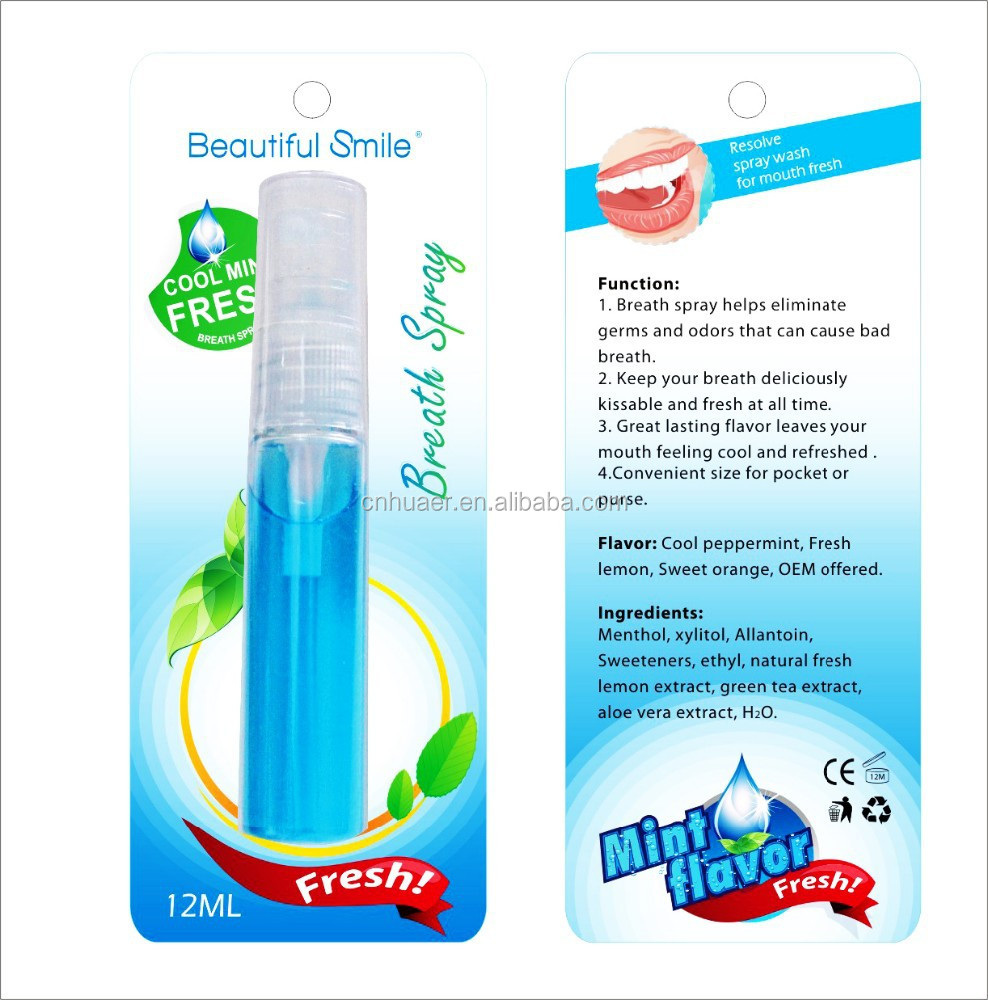Mouth Spray/Antiseptic High Quality Fluoride Concentrate Mint, oral hygiene, dental care Mouth Spray