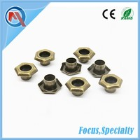 10mm Metal Hexagonal Eyelets For Shoes