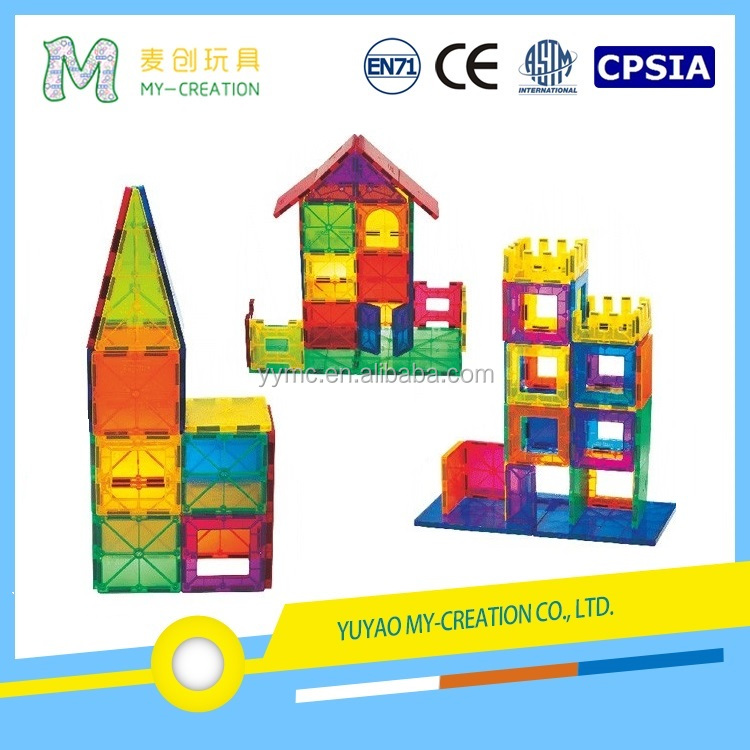 ISO Certification Welcome OEM wholesale 100 pcs Magnetic Building Blocks Toys for Kids