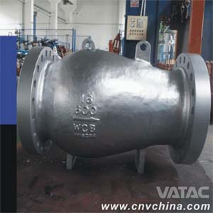 "Vatac Cast Steel 16"" 600LB check valve"