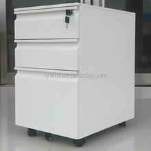 Metal 3 Drawer Mobile Pedestal Cabinets knock down steel office moving filing cabinet