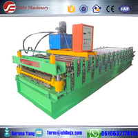 aluzinc roof panel making machine aluminum roofing sheet roll forming machine/hydraulic wall tile cold forming machine