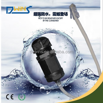 Waterproof RJ45 Ethernet connector IP 67 web cable