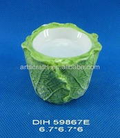 Vegetable shaped ceramic candle stand