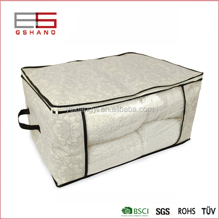 Factory manufacturer blanket quilt breathable storage box with zipper