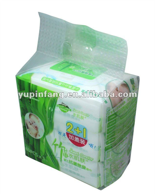 biodegradable Bamboo babywipes 3x80s