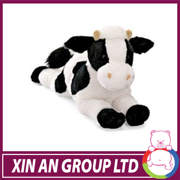 Rolling and laughing cute mini cow, light control electronic stuffed animal plush toy