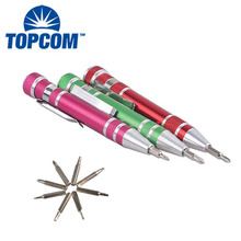 8 in 1 Screwdriver Bit Aluminum Alloy Mini Pocket Phillips Screw Driver Set