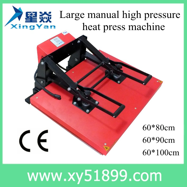 60*100CM T-shirt High Pressure Hand Sublimation Heat Press <strong>Machine</strong>