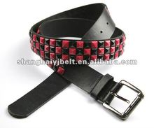2012 colorful beaded belts ,PU acrylic belt YJ3638