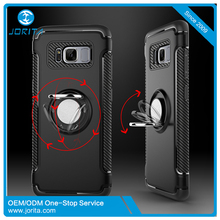 Latest Ring Holder Phone Case Galaxy S8 Car Magnetic Suction Bracket Mobile Kickstand Cover