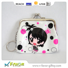 kawaii lovely girl mini coin sorter purse with kiss lock