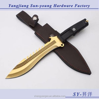 Extrema Ratio fixed blade combat tactical survival knife (gold)