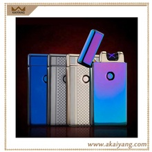 New Arriving Square Shape Metal Dual Arc Rechargeable Usb Lighter