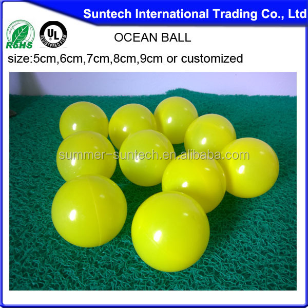 Plastic Pit Balls Mini Watermelon Clear Rubber Ball