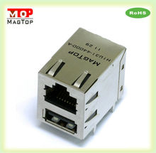 CAT5 Multi Port (1x2) Tab-Down rj-45 keystone jack Connector