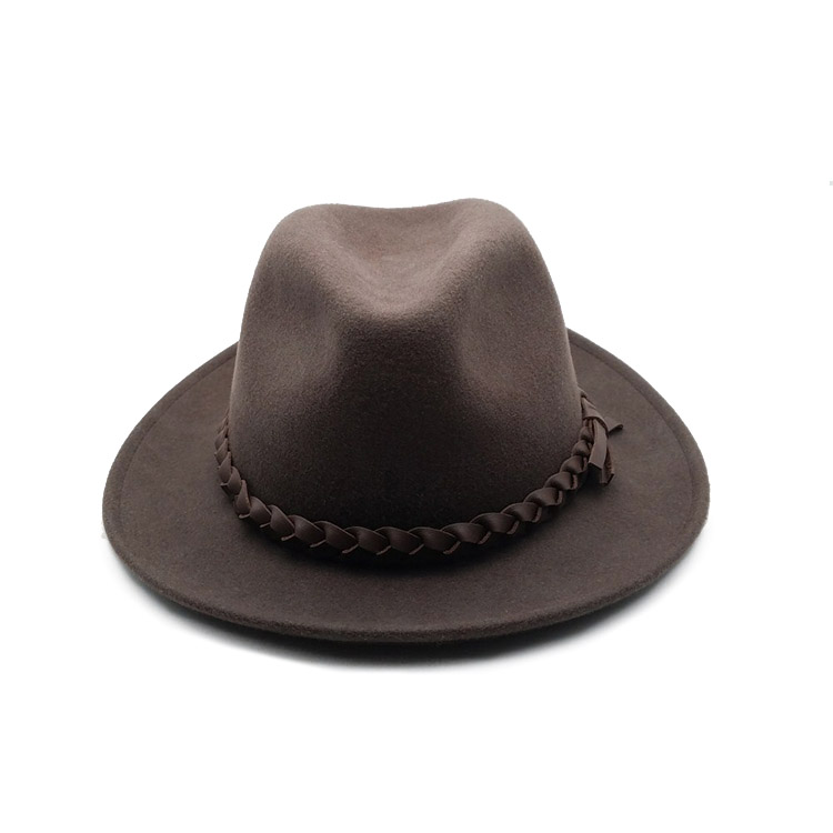 Wholesale Black Grey Wool Felt Fedora Hats