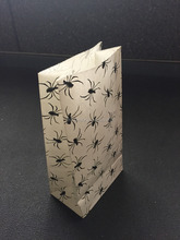 White kraft paper grocery bags without handle
