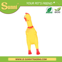 Plastic funny chicken pet toys for dog