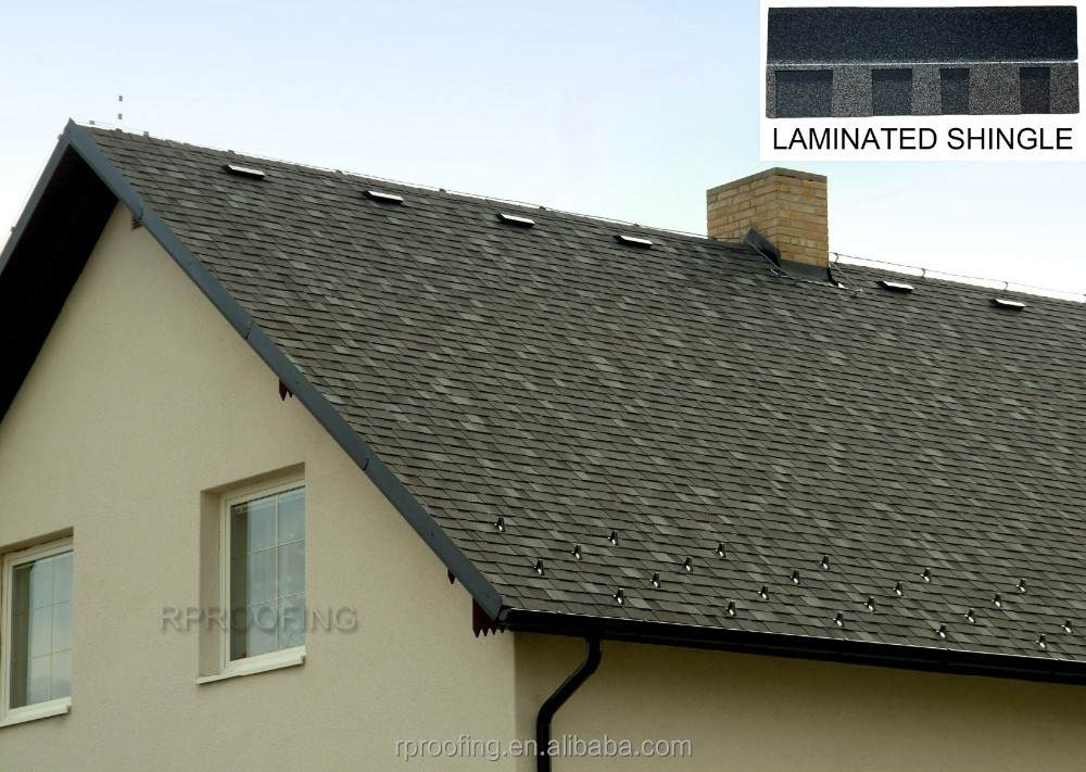 colorful laminated bitumen roof shingle/building material