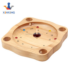 mini octagon wooden roulette game plying in KTV and bar for fun Drinking games